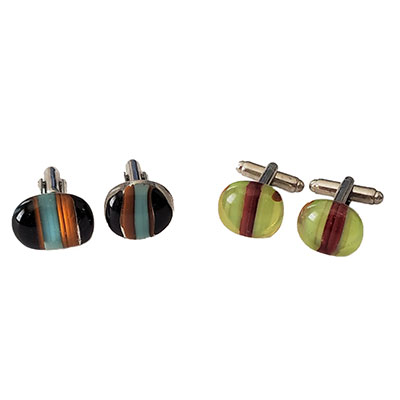 ilanit shalev art company fused glass cuff links kit